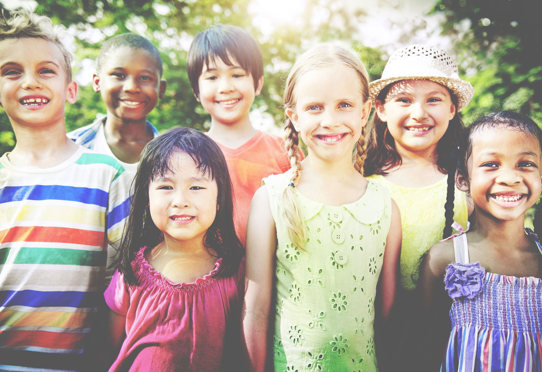 46820519 - group of children smiling cheerful concept