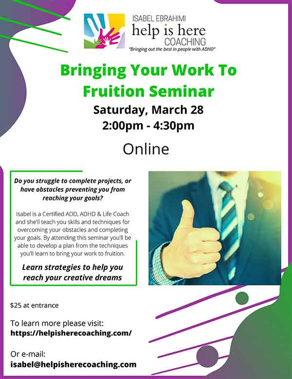 Bringing Work to Fruition Seminar ONLINESmall