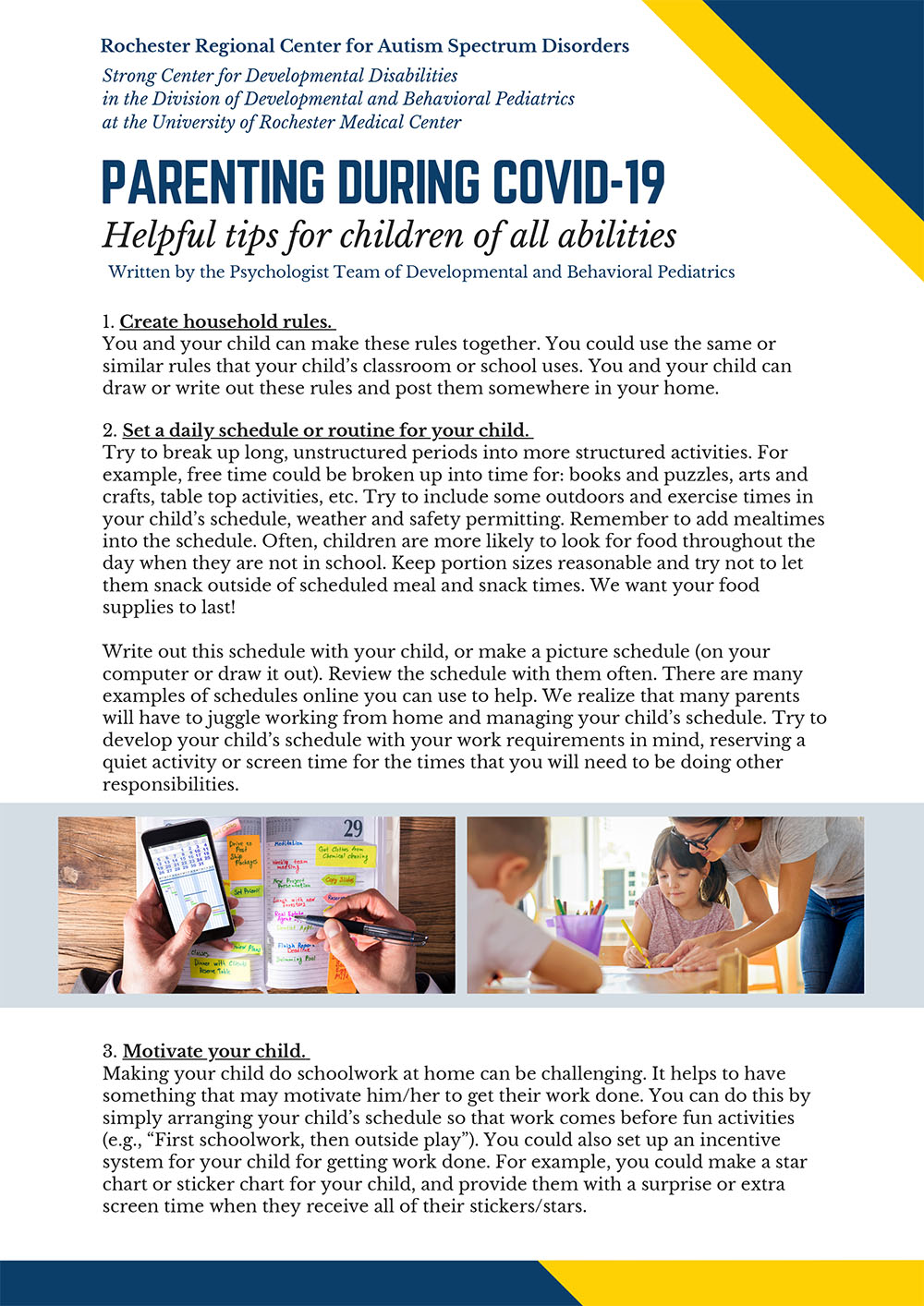 Parenting During Covid-19 Tip Sheet